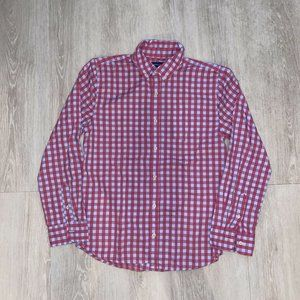 Crown & Ivy Red / Blue Check Button Down Youth XL